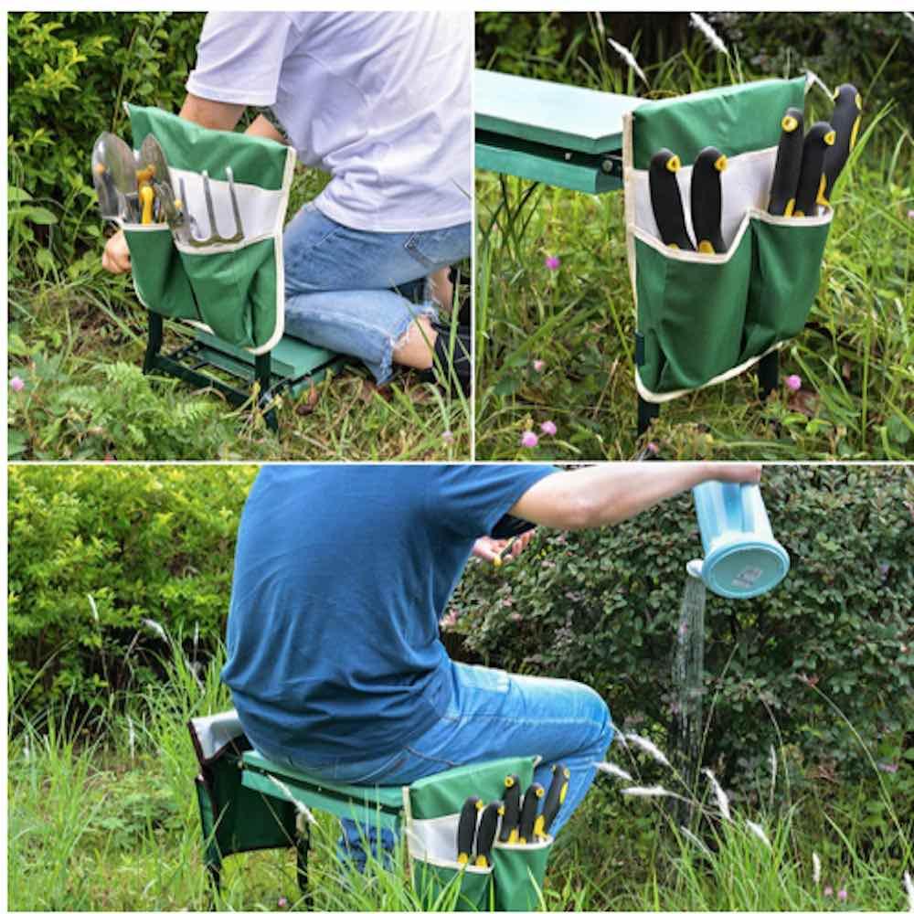 portable garden kneeler seat